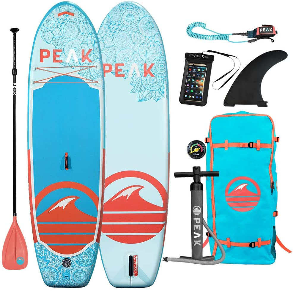 Peak 10' Yoga Fitness Inflatable Stand Up Paddle Board